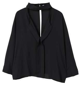 MANGO Choker neck blouse