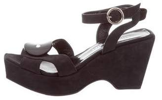 Sonia Rykiel Ankle Strap Leather Wedges