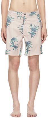 Onia Pink Palm Tree Calder Swim Shorts
