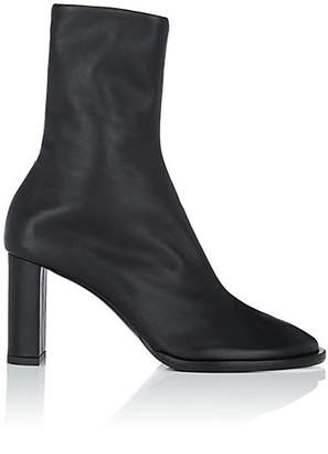 The Row Women's Tea Time Leather Zip Boots - Black
