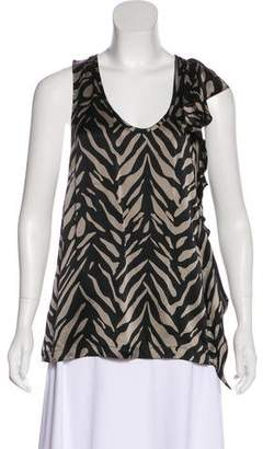Laila Azhar Zebra Print Silk Top