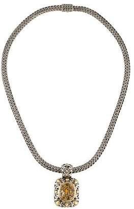 John Hardy Citrine Pendant Necklace