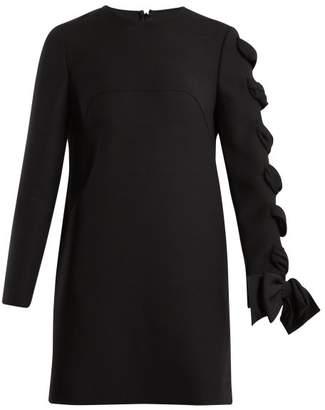 Valentino Round Neck Wool Cady Dress - Womens - Black