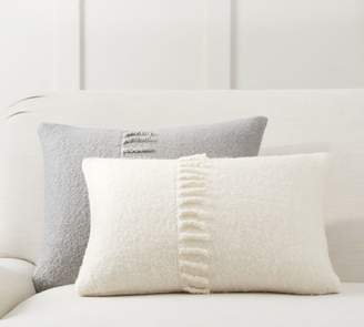 Pottery Barn Mohair Tassel Lumbar Pillow Cover