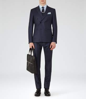 Reiss ARNO DOUBLE-BREASTED CHECK SUIT Navy