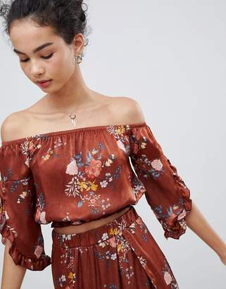 Gilli Off Shoulder Floral Top