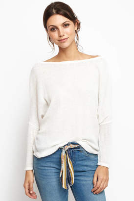 Others Follow Scoop neck Thermal Wedge Knit Top