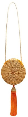Wai Wai - Balaio Tasselled Woven Rattan Bag - Womens - Orange