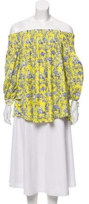 Caroline Constas Off-the-Shoulder Printed Blouse