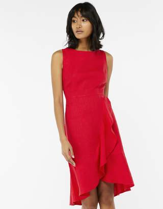 Monsoon Whitney Linen Frill Dress