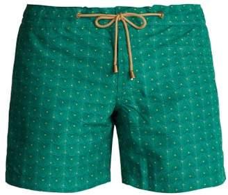 Thorsun - Titan Fit Triangle Print Swim Shorts - Mens - Green