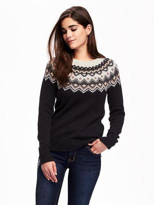 Fair Isle Crew-Neck Sweater for Women $36.94 thestylecure.com