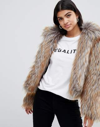 Glamorous faux fur cropped jacket