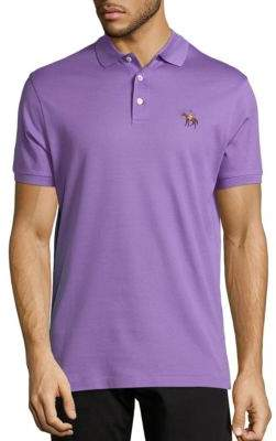 Ralph Lauren Purple Label Cotton Pique Standing Horse Polo