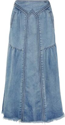 Chloé - Frayed Denim Maxi Skirt - Light denim $795 thestylecure.com