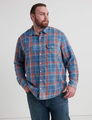 Big And Tall Axe Indigo Shirt