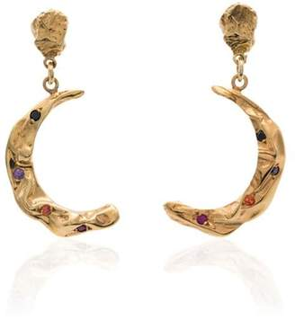 Hermina Athens Stardust moon gold-plated earrings
