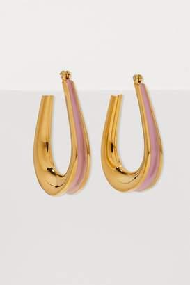 Annelise Michelson Ellipse enamel-detail earrings