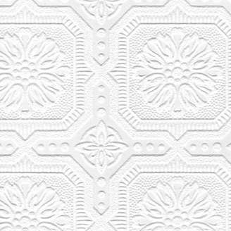 Graham & Brown Paintable 33' x 20.5 Damask 3D Embossed Wallpaper Roll