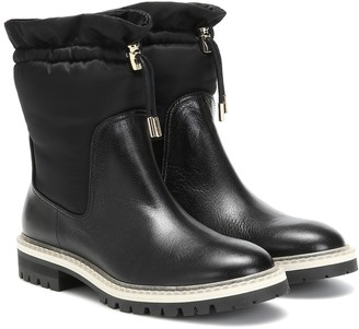 Jimmy Choo Bao Flat leather ankle boots