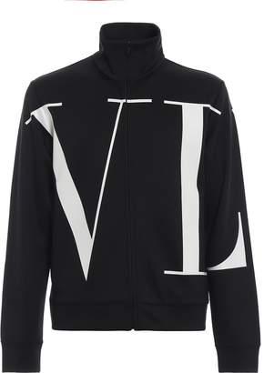 Valentino Printed Zip Sweater