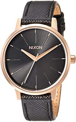 Nixon Women's 'Kensington' Quartz Metal and Leather Watch