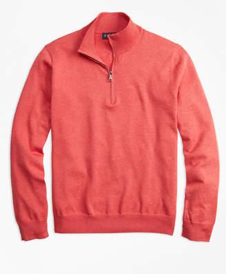 Brooks Brothers Supima Cotton Half-Zip Sweater