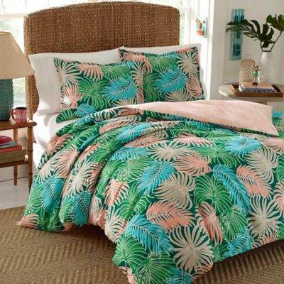 Nine Palms Breeze Reversible Twin Duvet Set