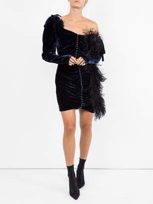 Magda Butrym Velvet draped mini dress
