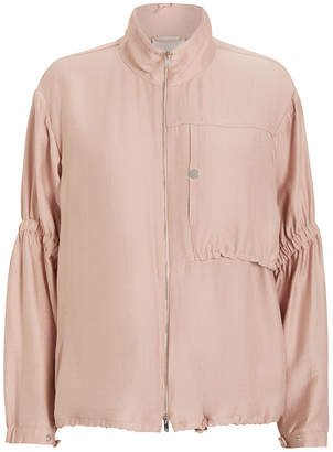 3.1 Phillip Lim Zip-Up Anorak With Cinched Sleeves