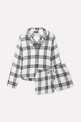 Rails Checked Flannel Pajama Set - White
