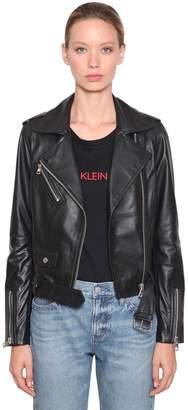 Calvin Klein Jeans Leather Biker Jacket