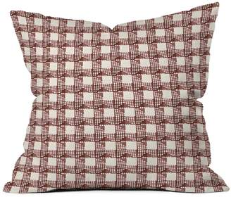 Deny Designs Holli Zollinger Anthology of Pattern Seville Gingham Maroon Throw Pillow