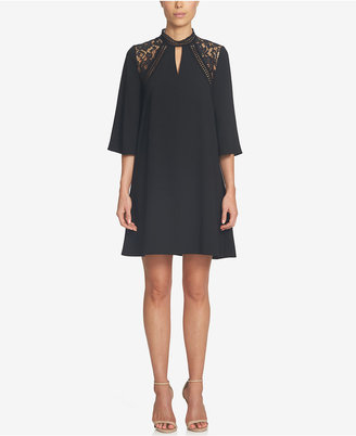 CeCe Lace-Inset Shift Dress $149 thestylecure.com