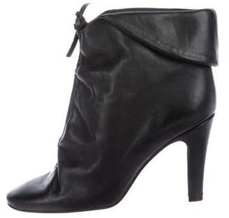 Sigerson Morrison Leather Round-Toe Ankle Boots