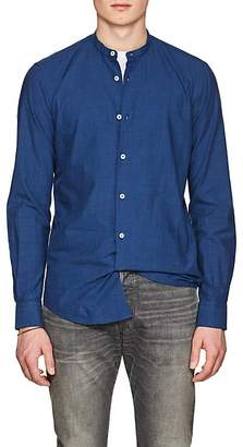 Barneys New York Men's Band-Collar Cotton Shirt