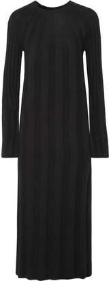 Elizabeth and James - Gerri Ribbed-knit Midi Dress - Black
