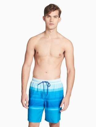Calvin Klein horizontal stripe volley shorts
