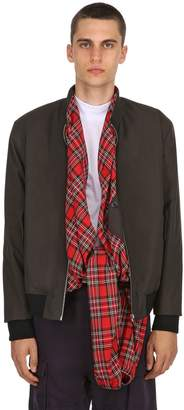 Y/Project Canvas Bomber Jacket W/ Plaid Panels