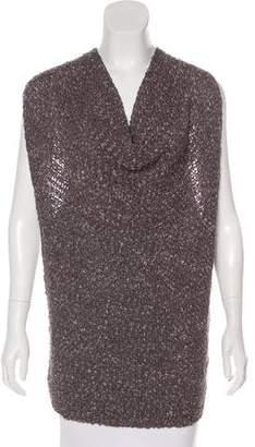 Sarah Pacini Sleeveless Open Knit Top
