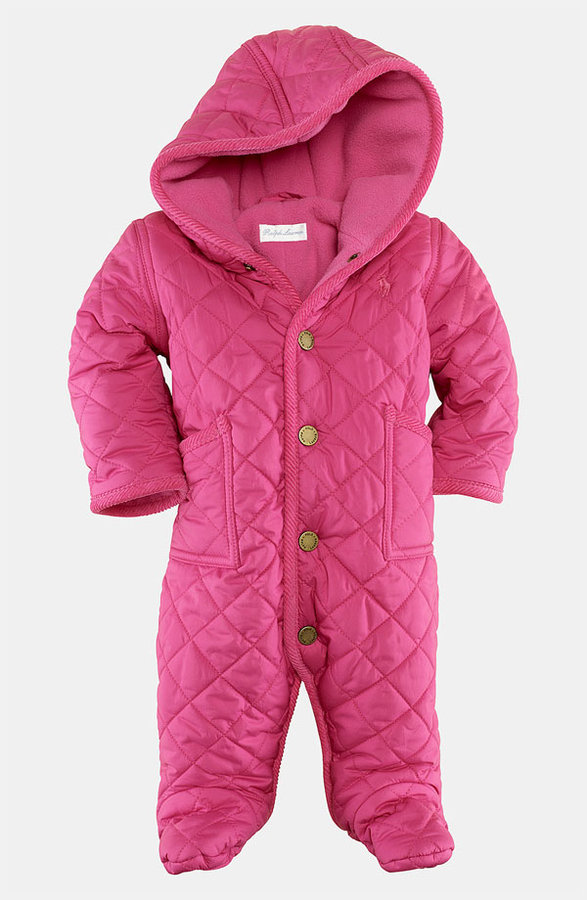 Ralph Lauren 'Barn' Quilted Bunting (Infant)