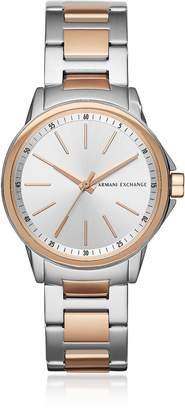 Armani Exchange Lady Banks Two Tone PVD Women's Watch