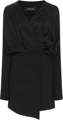Cushnie et Ochs Wrap-Effect Satin Mini Dress