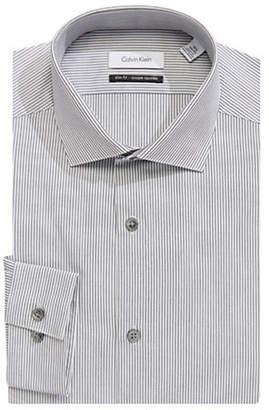 Calvin Klein Striped Cotton Dress Shirt