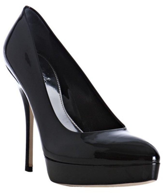 Gucci black patent leather 'Sofia' platform pumps