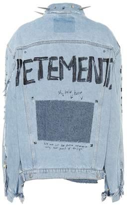 Vetements Embellished denim jacket