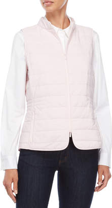 Lafayette 148 New York Pink Quilted Vest