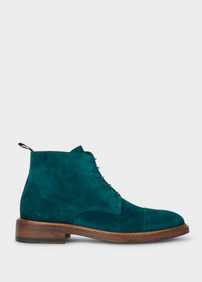 Paul Smith Women's Turquoise Suede 'Jarman' Boots