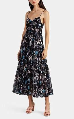 Laura Garcia Collection Women's Laura Floral Silk Dress - Black