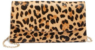 Nordstrom Genuine Calf Hair Leopard Print Clutch - Black $99 thestylecure.com